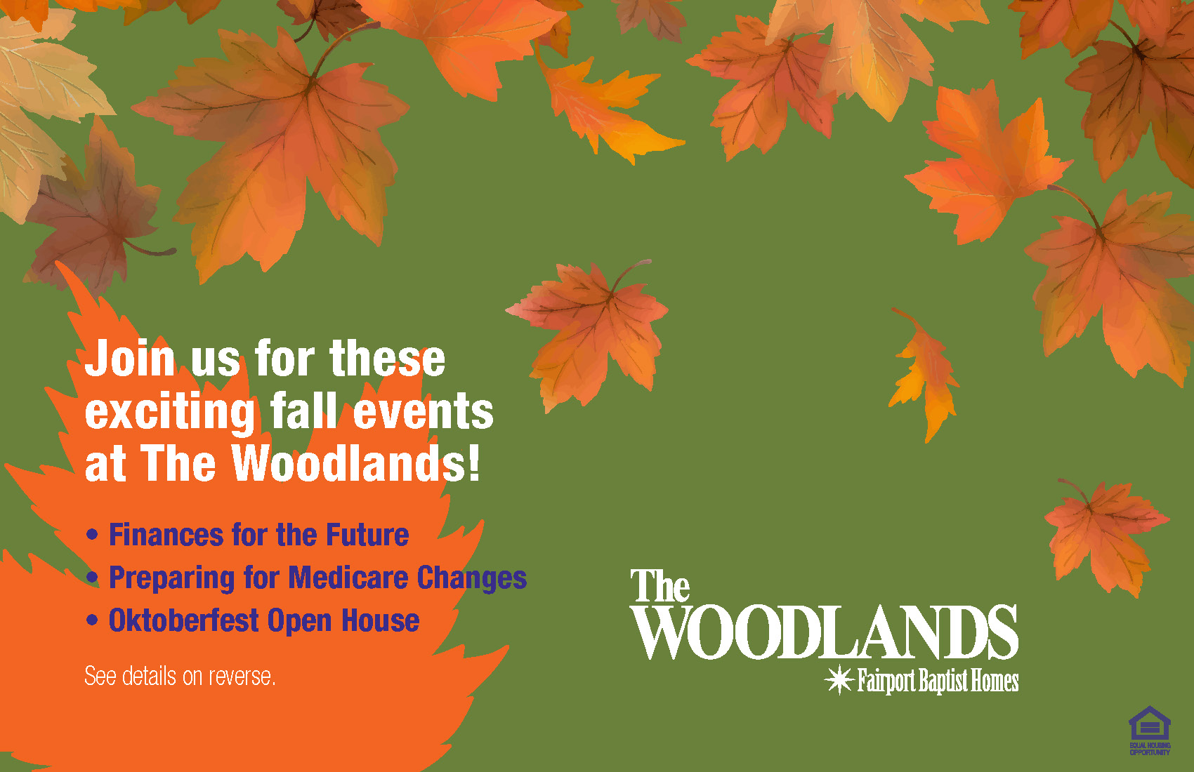 Join us for these exciting fall events at The Woodlands!